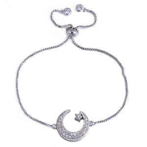 Moon & Stars Adjustable Bracelet - Love & Light Jewels