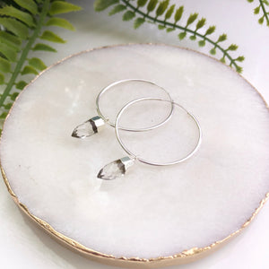 Sterling Silver Pendulum Hoops - Love & Light Jewels