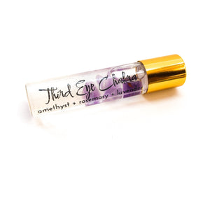 Crystal Infused Third Eye Chakra Oil - Love & Light Jewels