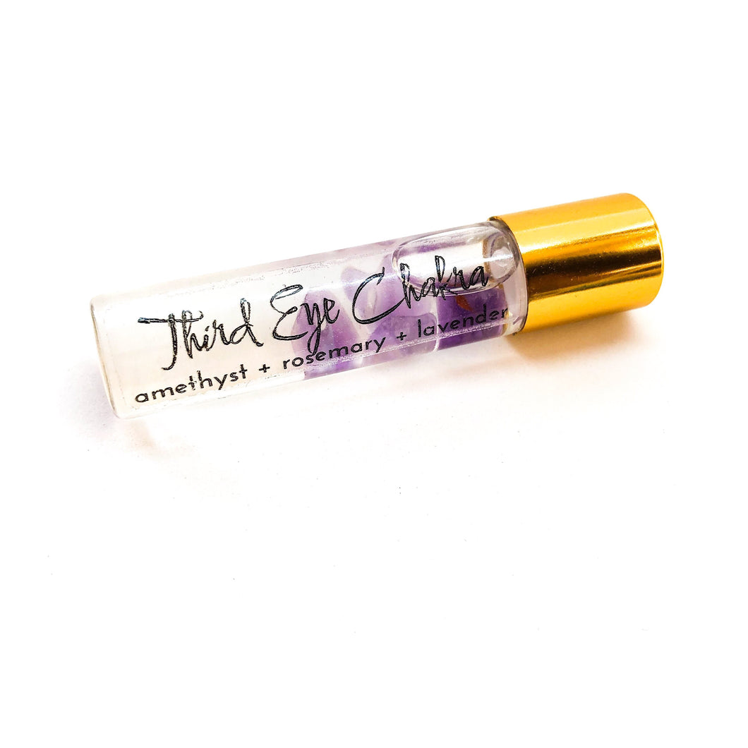 Crystal Infused Third Eye Chakra Oil