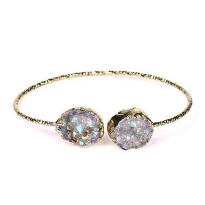Shimmering White Druzy Bangle
