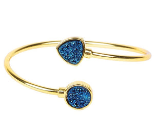 Sparkling Druzy Adjustable Bangle - Love & Light Jewels