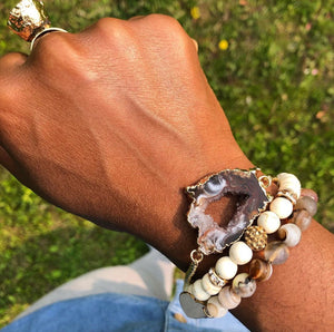 Agate Geode Adjustable Bracelet - Love & Light Jewels