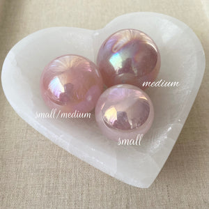 Aura Rose Quartz Sphere