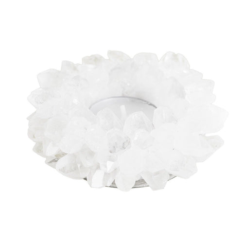 Clear Quartz Lotus Candle Holder - Love & Light Jewels
