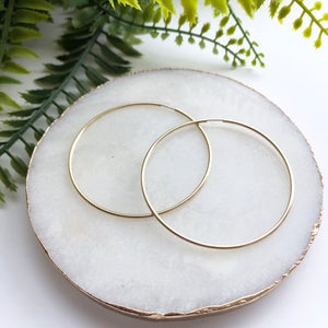 14K Gold Filled Infinity Hoops - Love & Light Jewels
