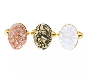 Sparkling Druzy Cocktail Ring - Love & Light Jewels