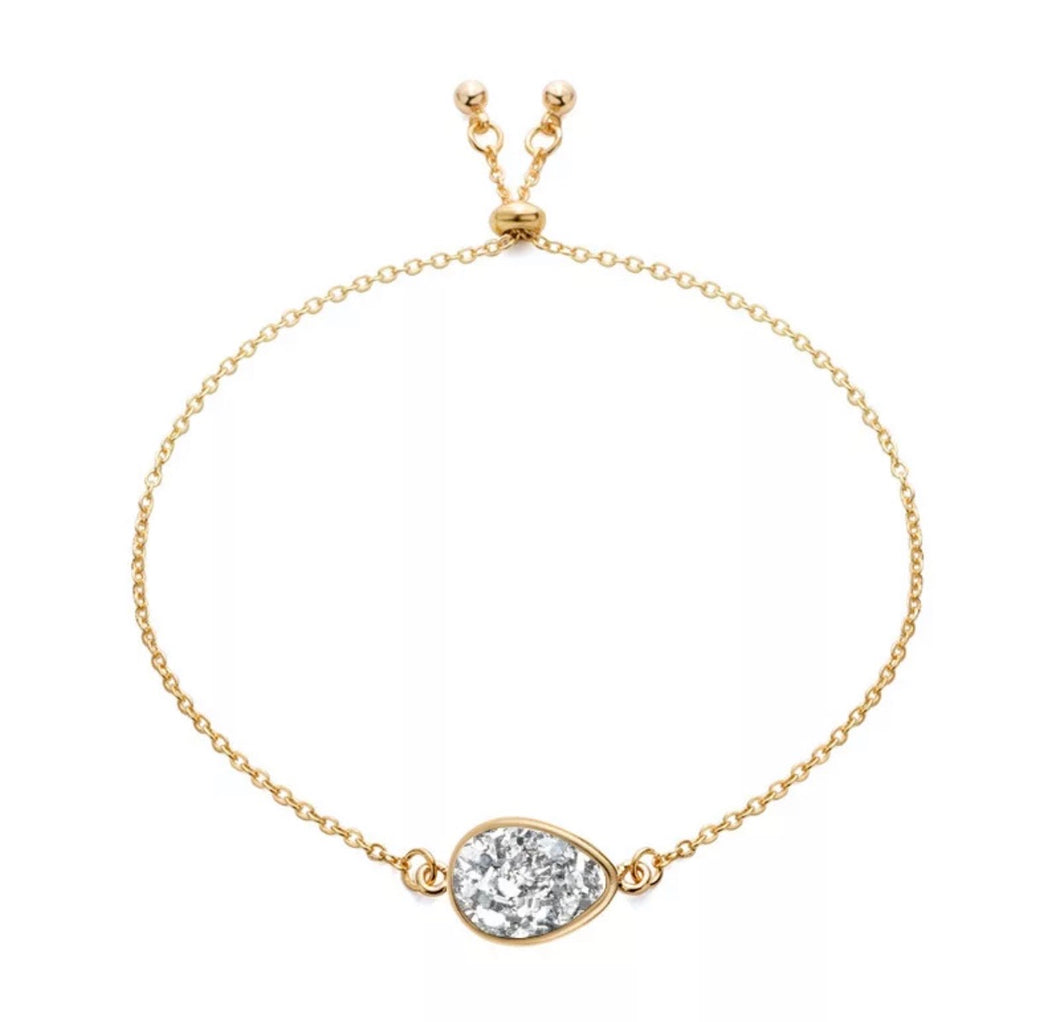 Dazzling Dainty Teardrop Bracelet - Love & Light Jewels