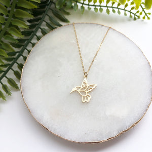 14K Gold Filled Bird of Paradise Necklace - Love & Light Jewels