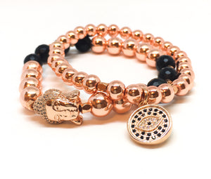 Peace + Protection Bracelet Set - Love & Light Jewels