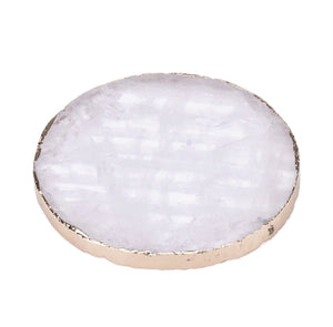 Natural Quartz Drink Coaster - Love & Light Jewels