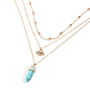 Nazar Triple Strand Necklace - Love & Light Jewels