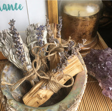 Lavender Crystal White Sage Bundle