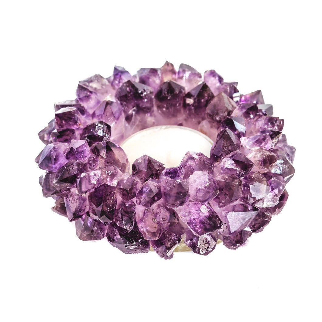 Amethyst Lotus Candle Holder - Love & Light Jewels