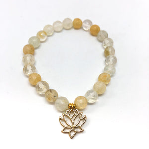 Divine Goddess Solar Plexus Chakra Bracelet Stack - Love & Light Jewels