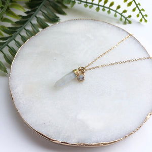 14K Gold Filled Pendulum Necklace - Love & Light Jewels