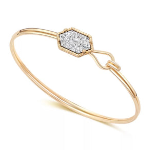 Dazzling Druzy Hook Bangle - Love & Light Jewels