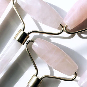 Rose Quartz Facial Roller - Love & Light Jewels