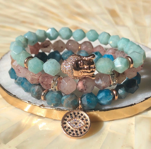 Tranquility, Love & Peace Bracelet Stack - Love & Light Jewels
