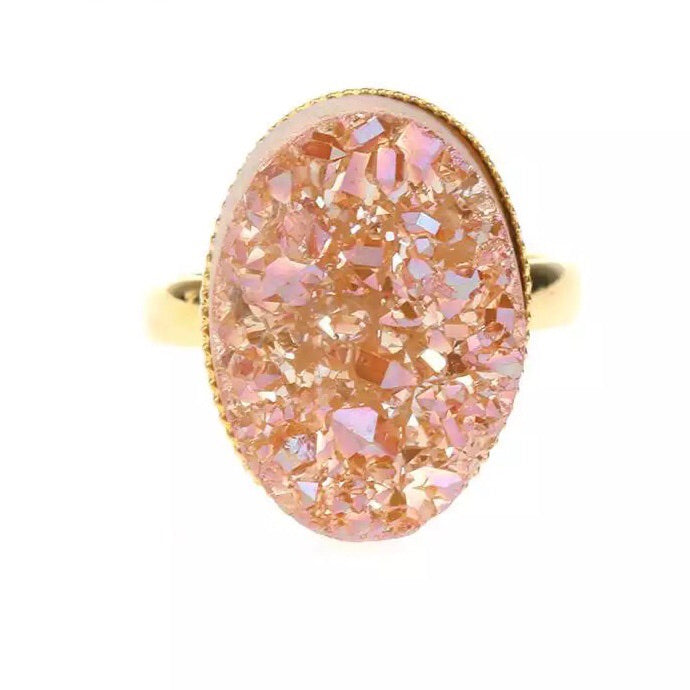 Sparkling Druzy Cocktail Ring