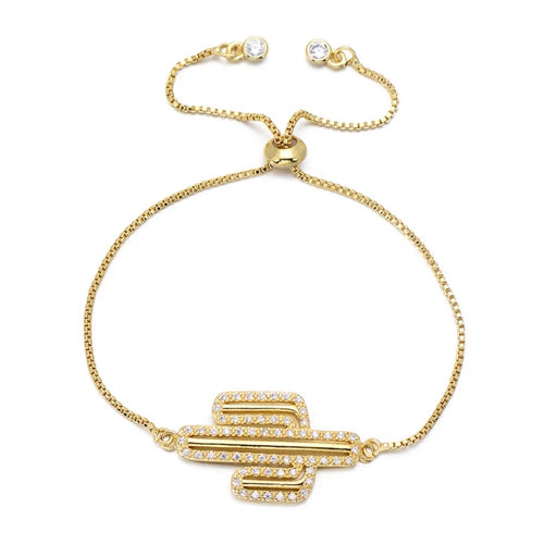 Cactus Adjustable Bracelet - Love & Light Jewels