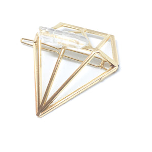 LLJ Clear Quartz Crystal Barrette - Love & Light Jewels