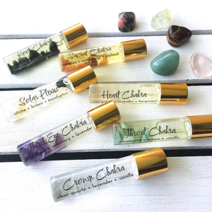 Crystal Infused Throat Chakra Oil - Love & Light Jewels