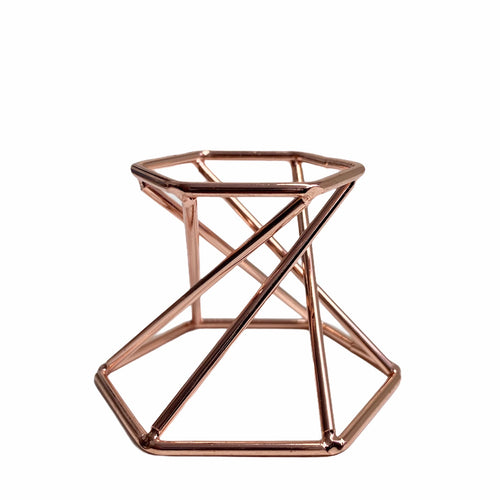 Rose Gold Metal Crystal Stand