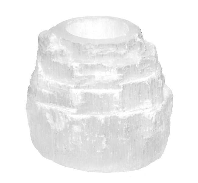 Selenite Candle Holder - Love & Light Jewels