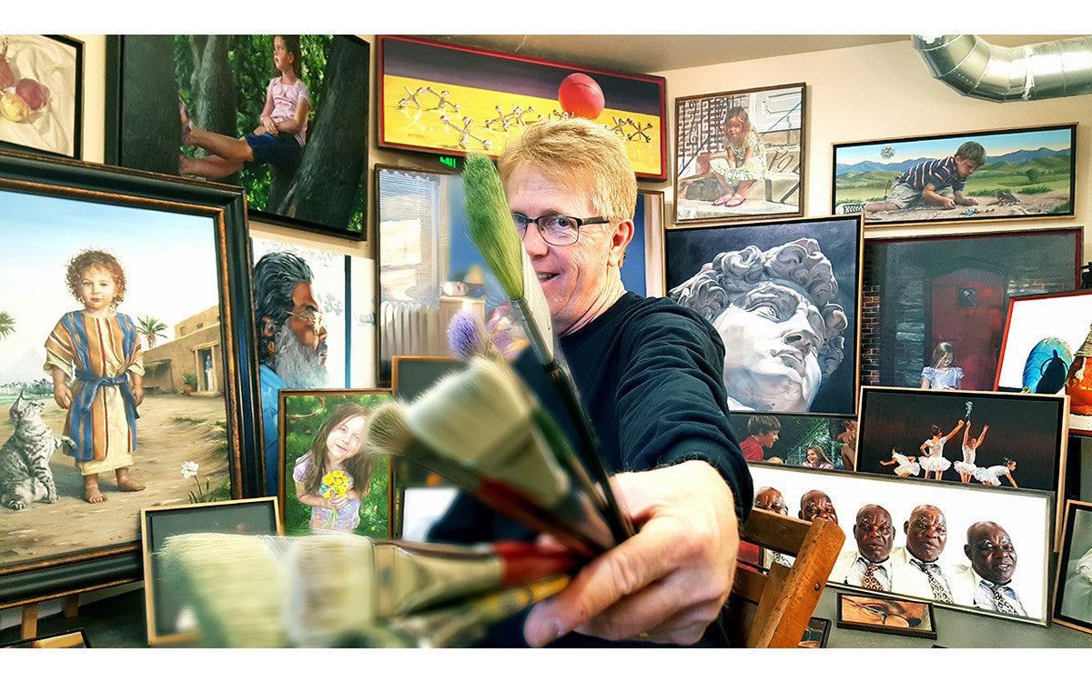 Mark B. Goodson in his Studio