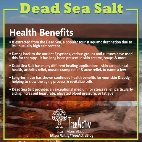 TreeActiv Dead Sea Salt Health Benefits