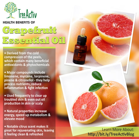 TreeActiv Grapefruit Essential Oil Health Benefits
