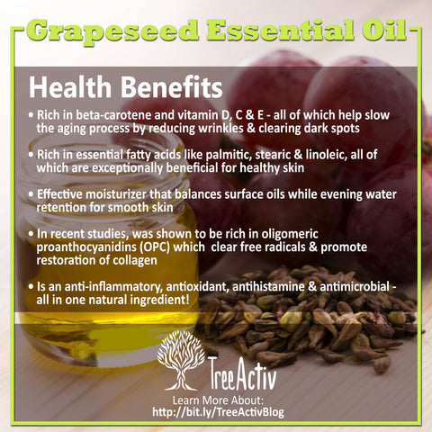 TreeActiv Grapeseed Essential Oil Health Benefits