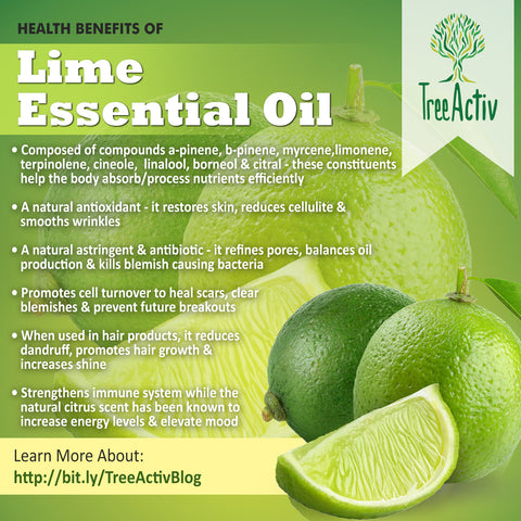 TreeActiv Lime Essential Oil Health Benefits