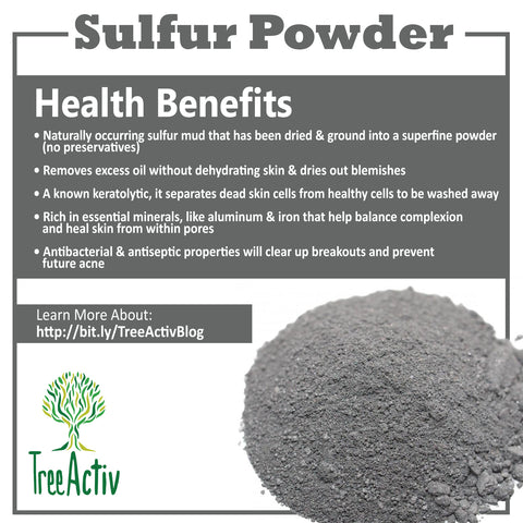Sulfur Powder For Skin Care Treeactiv Treeactiv