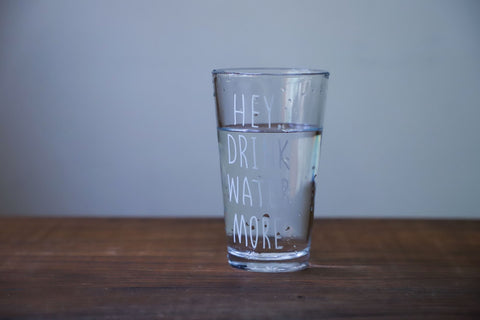 clear drinking glass of water