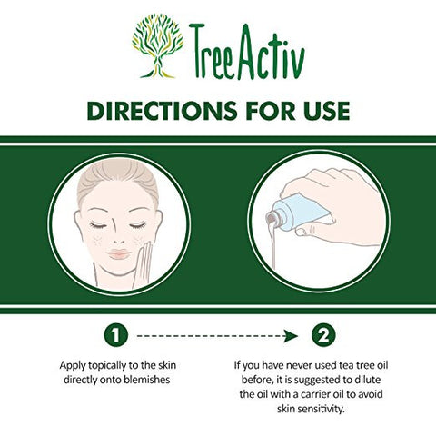 Pure Tea Tree Essential Oil Directions For Skin Care Use TreeActiv