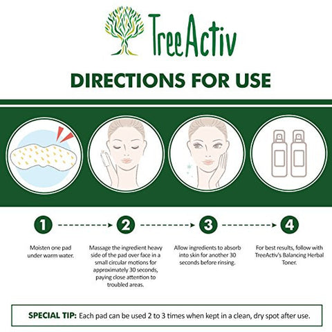 Face Exfoliating Scrub Pads Directions For Use TreeActiv