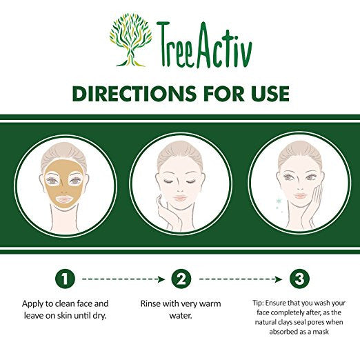 Turmeric Charcoal Acne Mask Directions For Use TreeActiv