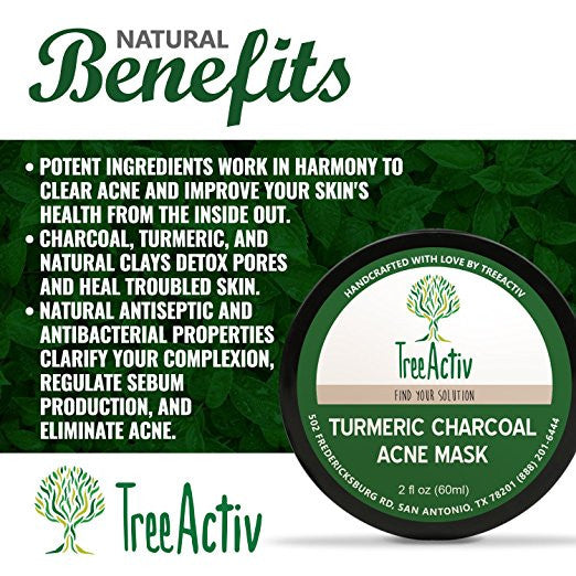 Turmeric Charcoal Acne Mask Benefits TreeActiv