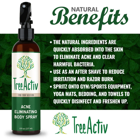 Acne Eliminating Body Spray Benefits TreeActiv