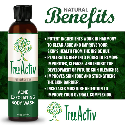 Acne Eliminating Body Wash Benefits TreeActiv