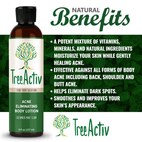 Acne Eliminating Body Lotion Benefits TreeActiv