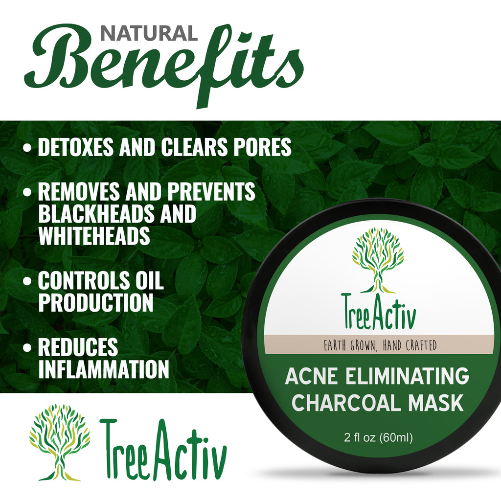 Natural Acne Eliminating Charcoal Mask TreeActiv