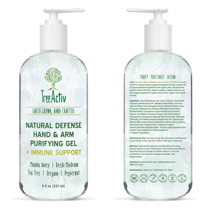 Natural Defense Hand & Arm Purifying Gel - TreeActiv