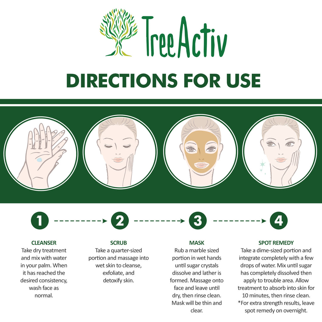Four In One Acne Treatment Directions For Use TreeActiv
