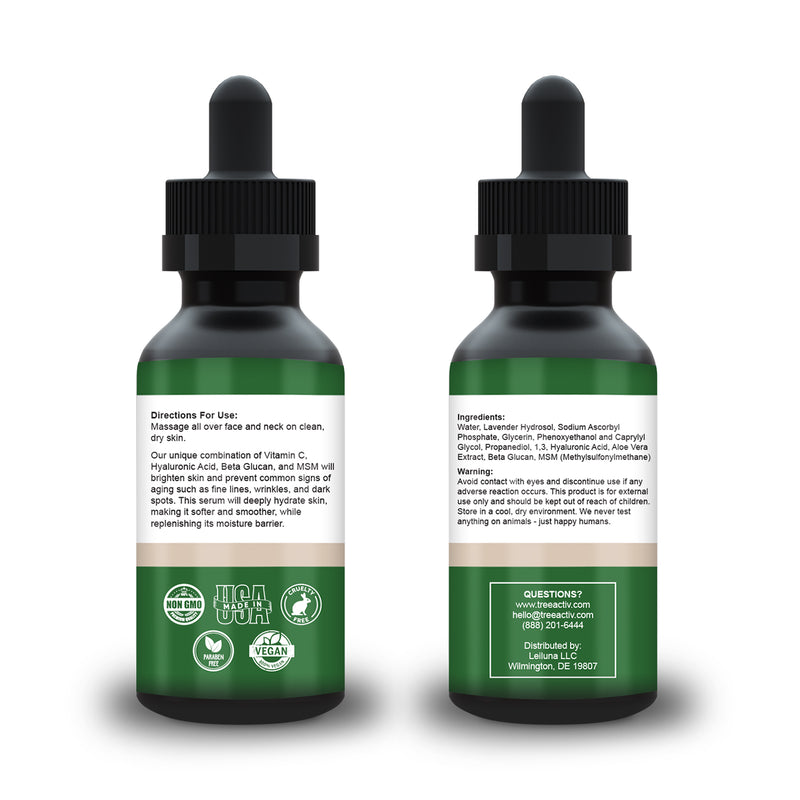 TreeActiv Vitamin C + Hyaluronic Acid Serum