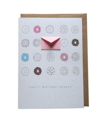 Sweet Birthday Wishes Donuts - Tiny Envelope Card