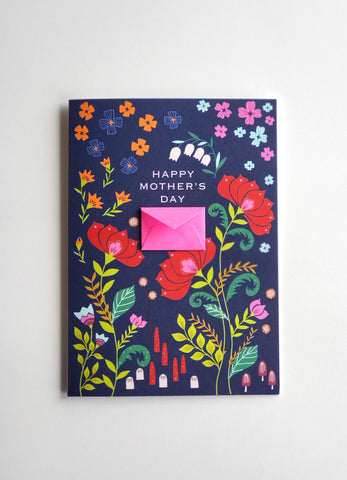 Folksy Florals - Tiny Envelope Mother's Day Card