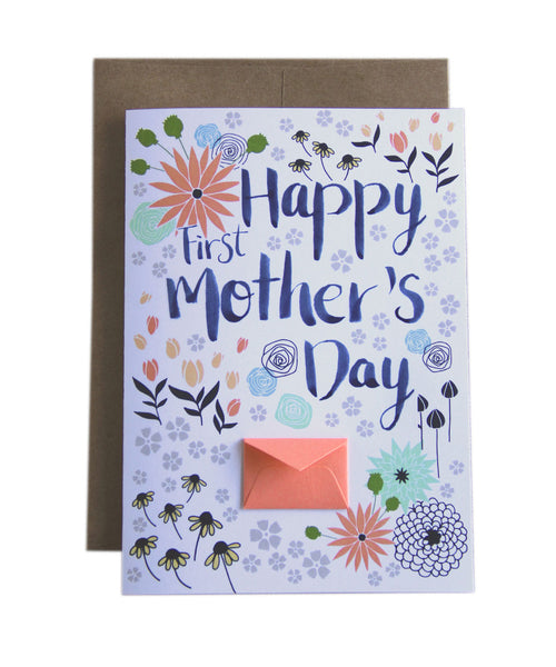 First Mother's Day - Tiny Envelope Mother's Day Card